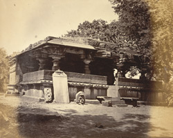 General view of old temple, Bail Hangal, Belgaum District.
